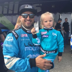 Michael Essa and his daughter, after being eliminated.